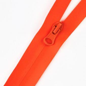 Wasserdichter Reißverschluss als Meterware fluo orange