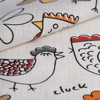 Ottoman-Stoff recycelte Baumwolle Hühner