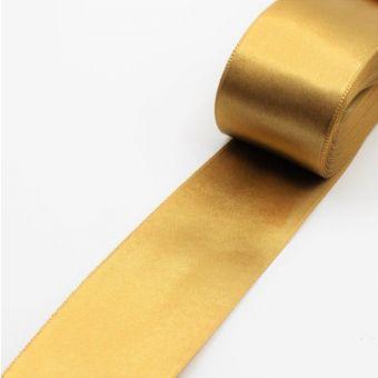 Satinband goldfarben - 40 mm
