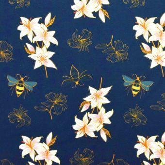 Sweatshirtstoff French Terry Bio Lily Blau - Albstoffe