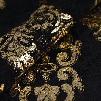 Wollfilz Schwarz Golden