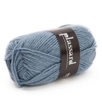 Strickgarn Plassard Week-end - blau merliert