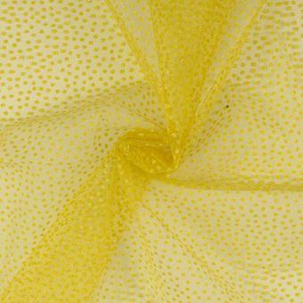 Tüll  Glänzende Mini-Punkte Karneval gelb