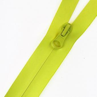 Wasserdichter Reißverschluss als Meterware fluo gelb