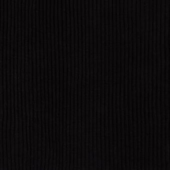Dicker Bündchenstoff Schlauchware schwarz