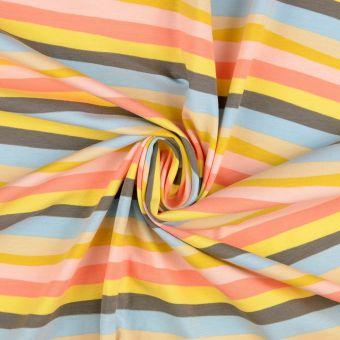 Jersey Baumwolle Streifen Pastel
