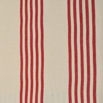 Gewebter Stoff mit Streifen rot