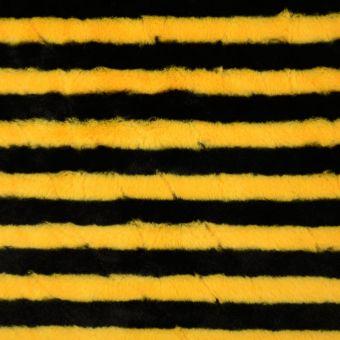 Kunstpelz schwarz und gelb gestreift