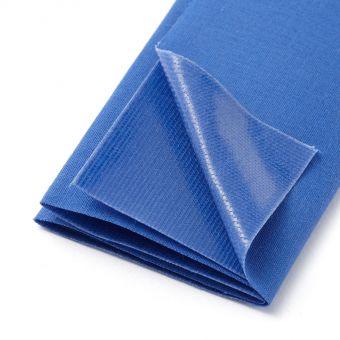 Thermoklebender Streifen aus Baumwolle, königsblau
