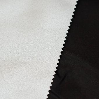 Thermofutterstoff Sylvia mit schwarzer metallischer Rückseite