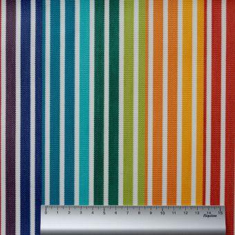 Dralon Outdoor-Stoff mit doppelter Beschichtung gestreift Regenbogen