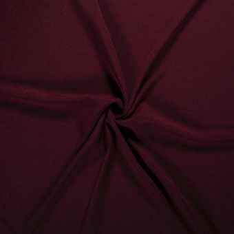 Sweatshirtstoff French Terry Bio recycelt Weinrot