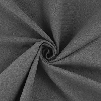 Baumwollstoff recycelt Halbpanamabindung Grau