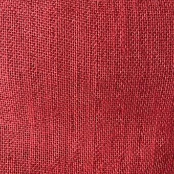 Einfarbiger Jute-Stoff rot