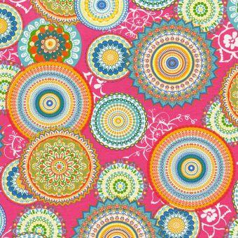 Ottoman-Stoff Mandala Pink