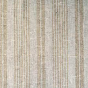 Geschirrtuchstoff Leinen Streifen weiß ecru