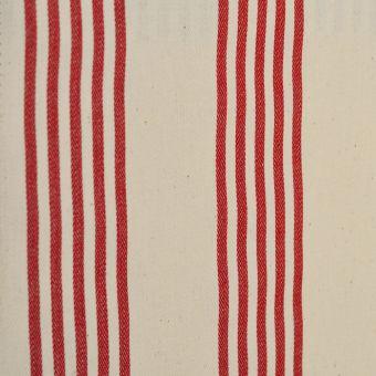 Baumwollstoff mit doppelter Acrylbeschichtung Cabana rot gestreift