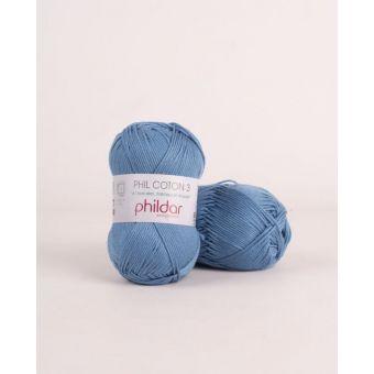 Strickgarn Phildar Coton 3 seeblau
