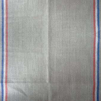 Geschirrtuchstoff Leinen Streifen blau weiß rot