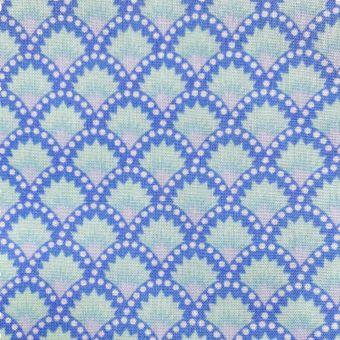 Popeline Baumwollstoff Wasabi blau - Petit Pan