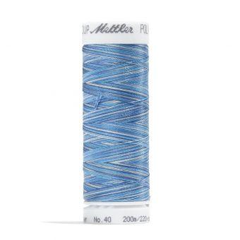 Blaue Garnspule Mettler Poly Sheen