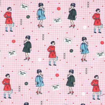 Rosa Baumwollstoff Ma petite Robe