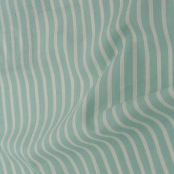 Chambray Bio Baumwolle Streifen Grün