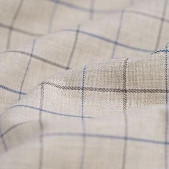 Gabardine Polyester Baumwolle recyclet Karos