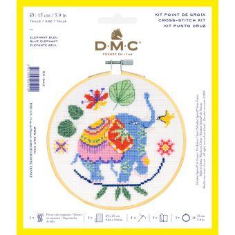 Set Kreuzstich DMC Elefant