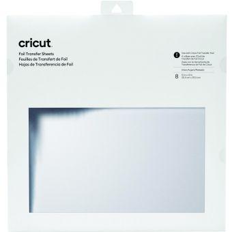 Cricut 8 Transfertbögen Silbern 30,5 x 30,5 cm
