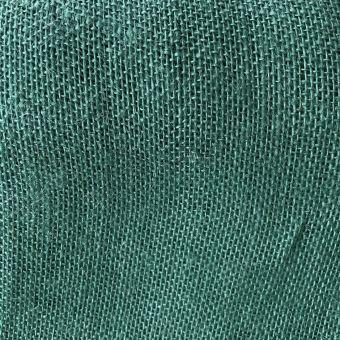 Einfarbiger Jute-Stoff grün