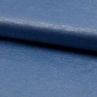 Voile-Stoff Glänzend Denim Blau