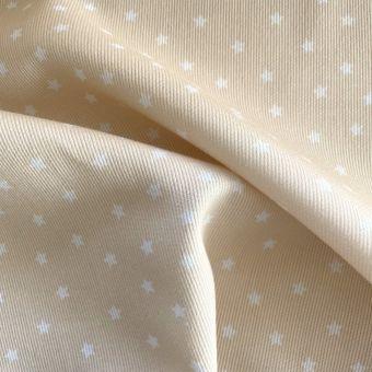 Piqué-Stoff Baumwolle Sterne gelb