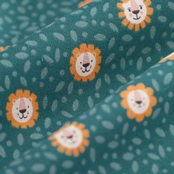 Cretonne Bio Baumwolle Löwen