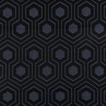Outdoorstoff geometrisch gemustert Schwarz