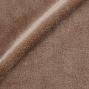 Fleecestoff, einfarbig taupe