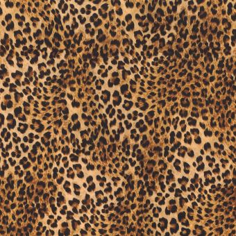 Samtstoff Leopard gelb