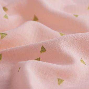Windelstoff Dreiecker rosa goldfarben