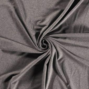 Sweatshirtstoff French Terry Bio recycelt Dunkelgrau