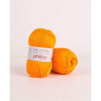 Strickgarn Phildar Coton 3 mandarine