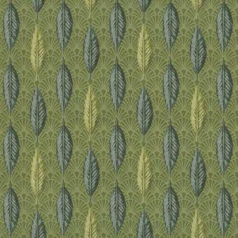 Jacquard Federn grün