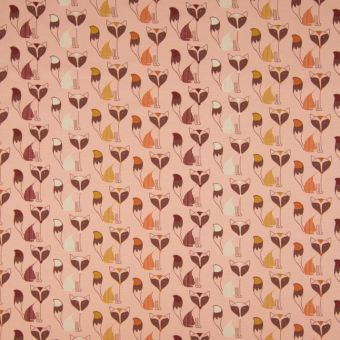 Jerseystoff Baumwolle Fuchs rosa