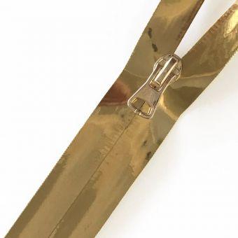 Wasserdichter Reißverschluss als Meterware goldfarben