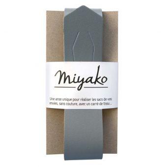 Miyako abnehmbarer Griff für Tasche grau