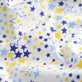 Perkal Bio Baumwollstoff Sterne