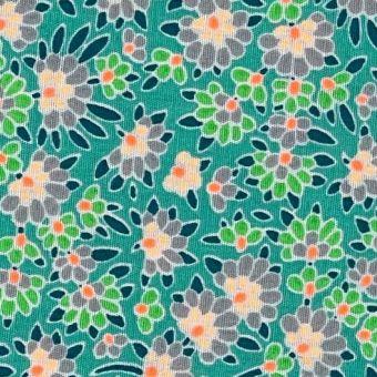 Popeline Baumwollstoff Ringelblume grün - Petit Pan