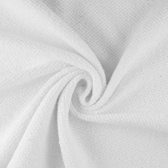 Waffelfrottee Sparkle Weiß