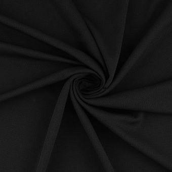 Funktionsstoff Polyester Schwarz Atmungsaktiv