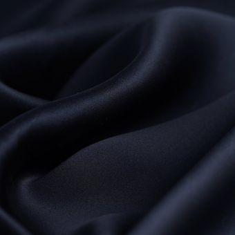 Seidenstoff Marineblau