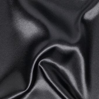 Einfarbiger Satin-Stoff, schwarz